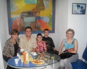 4.  with family immediately after harvestig