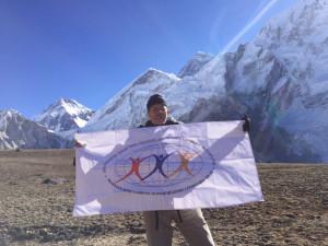 Lukassian on Khumbu Glacier
