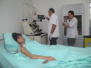 Sose during harvest with Dr. Mshetsyan and Nurse Kanrig copy