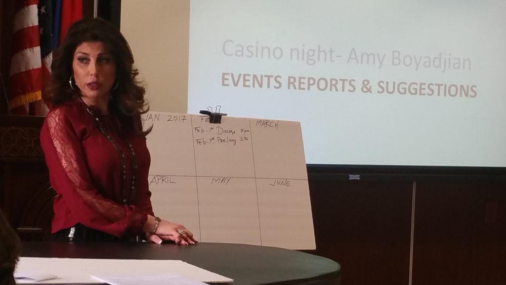 5. Amy Boyadjian's presentation about upcoming Casino Night