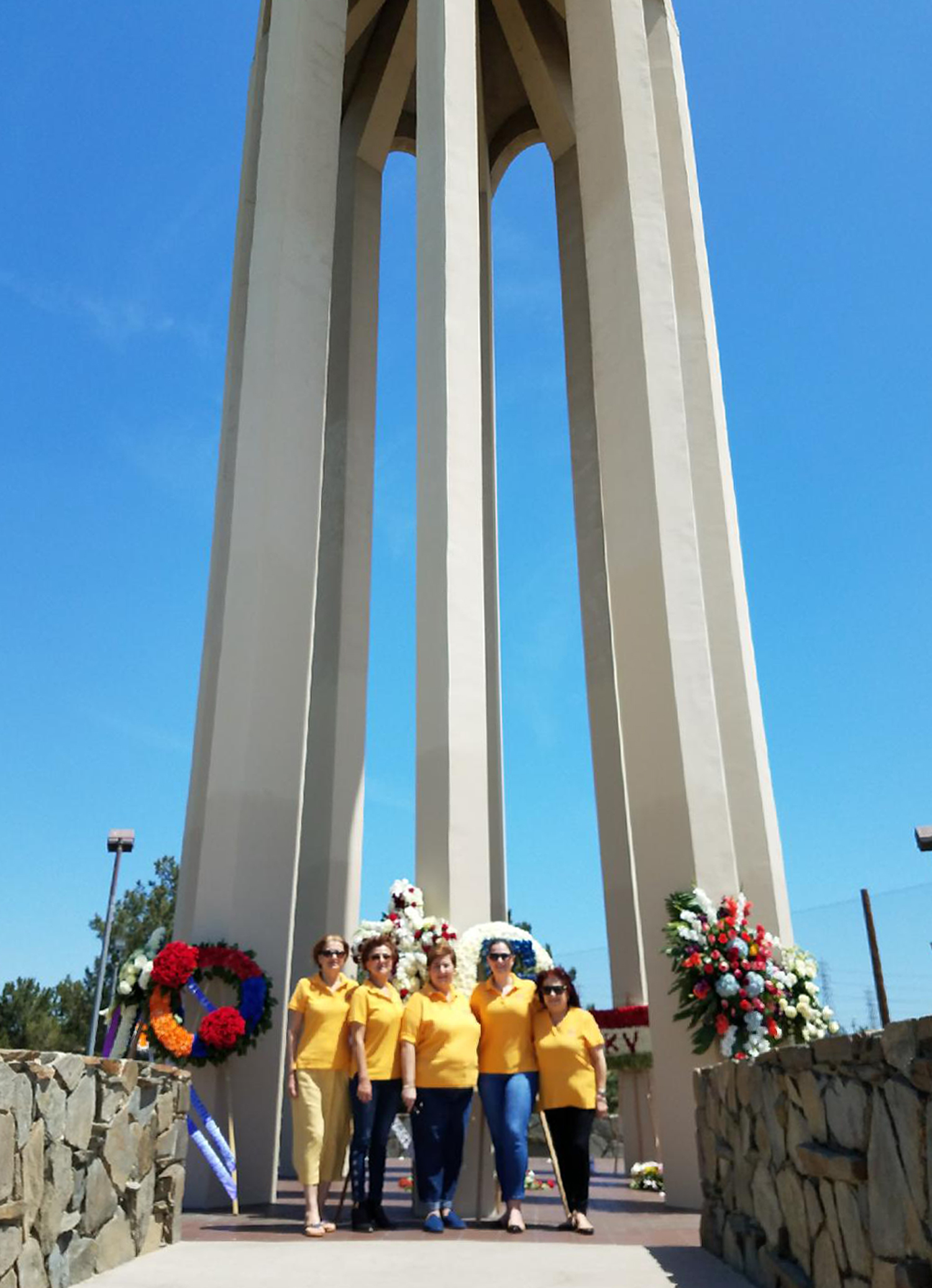 ABMDR Team in Front of Montebello Monument